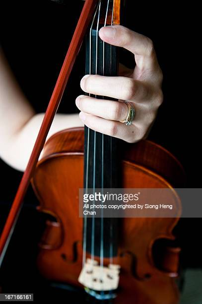 Violin with Violinist's Hands