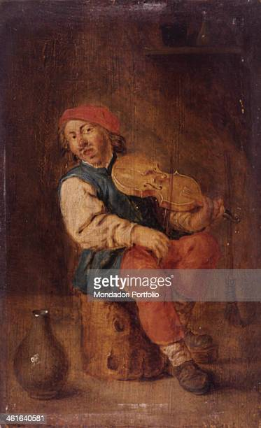 Violine Player by Adriaen Brouwer 17th Century oil on board5 x 20 cm Italy Lombardy Milan Castello Sforzesco Civic Collections of Ancient Art Whole...