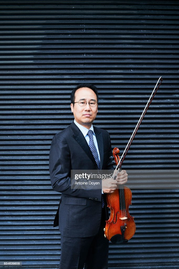 Violinist and activist Hyung Joon Won is photographed for Le Temps on September 8, 2017 in Paris, France.