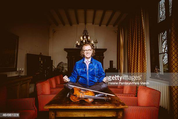 Violinist Andre Rieu is photographed for Paris Match on January 27 2015 in Maastricht Netherlands