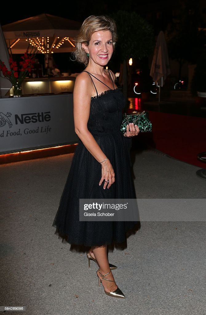 Violinist Anne Sophie Mutter during the opera premiere 'The Exterminating Angel' on July 28, 2016 in Salzburg, Austria.