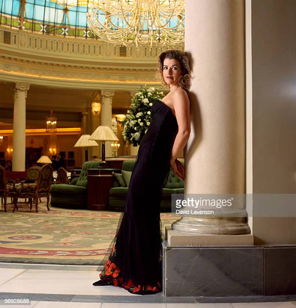 Violinist Anne Sophie Mutter poses for a portrait at the Ritz Hotel in Madrid Spain on March 13 1998