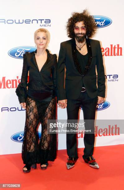 Violinist Ara Malikian and Natalia Moreno attend Men's Health 2017 Awards photocall at Goya theater on November 20 2017 in Madrid Spain