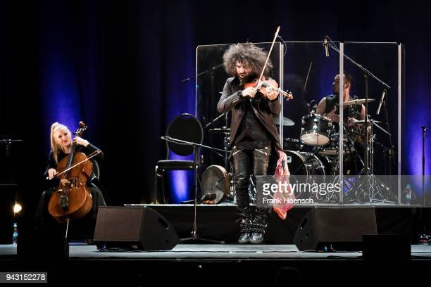 Violinist Ara Malikian performs live on stage during a concert at the Admiralspalast on April 7 2018 in Berlin Germany