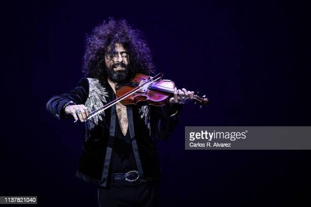 Violinist Ara Malikian performs on stage during the Malaga Film Festival 2019 closing day gala at Cervantes Theater on March 23 2019 in Malaga Spain