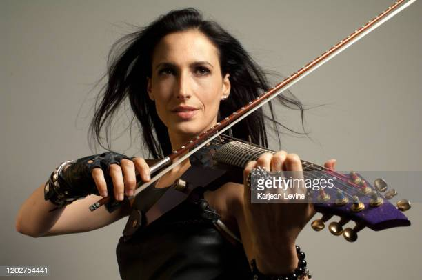 Violinist Asha Mevlana plays her electric violin on May 10 2014 in New York City New York
