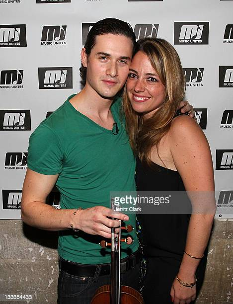 Violinist Charlie Siem and Music Unites Founder Michelle Edgar attend Music Unites Classical Musical Showcase Series at SPiN New York on April 29...