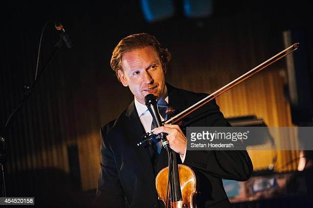 Violinist Daniel Hope performs live on stage during Yellow Lounge organized by recording label Deutsche Grammophon at Ehemaliges Tschechoslowakisches...