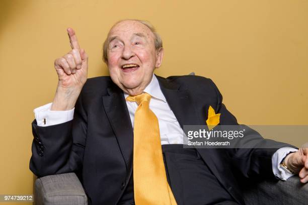 Pianist Menahem Pressler performs live on stage during the Yellow Lounge concert organized by recording label Deutsche Grammophon as part of its 120...