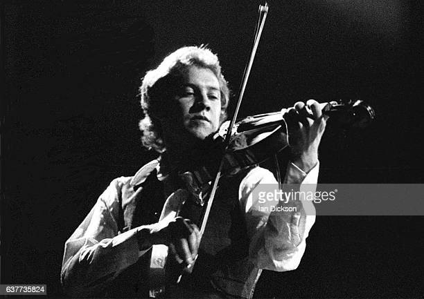 Violinist David Cross of King Crimson performing on stage on their 1973 UK tour promoting 'Larks Tongue In Aspic'