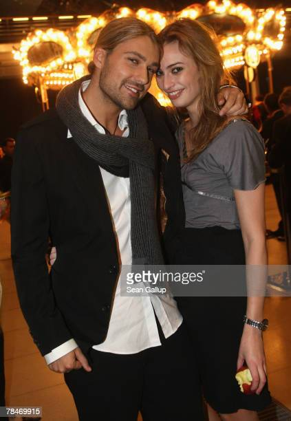 Violinist David Garrett and friend Ida Mejer attend the afterparty to the 2007 Jose Carreras Gala December 13 2007 in Leipzig Germany The Jose...