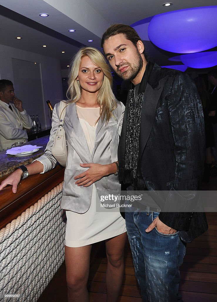 Violinist David Garrett (R) and guest attend the Palisades Media Corp and Vin Roberti Salute Independent Film Party held at the Hotel du Cap during the 63rd Annual International Cannes Film Festival on May 19, 2010 in Cannes, France.
