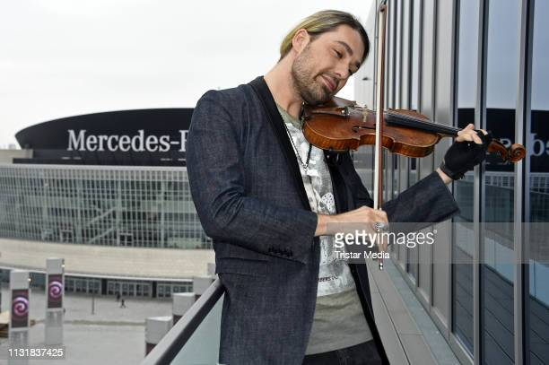 Violinist David Garrett attends a photocall to promote his upcoming concert tour at 260 Grad Rooftop Bar on March 21 2019 in Berlin Germany