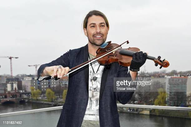Violinist David Garrett attends a photocall to promote his upcoming concert tour at 260 Grad Rooftop Bar on March 21, 2019 in Berlin, Germany.
