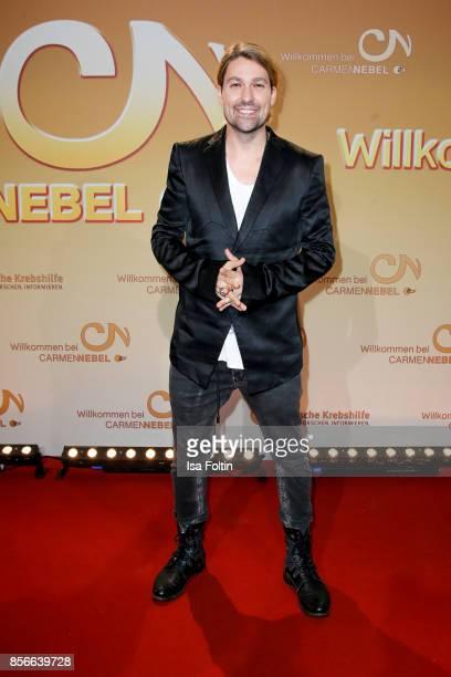 Violinist David Garrett during the tv show 'Willkommen bei Carmen Nebel' at TUI Arena on September 30 2017 in Hanover Germany