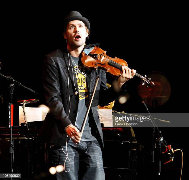 Violinist David Garrett performs live during a concert at the O2 World on November 3 2010 in Berlin Germany