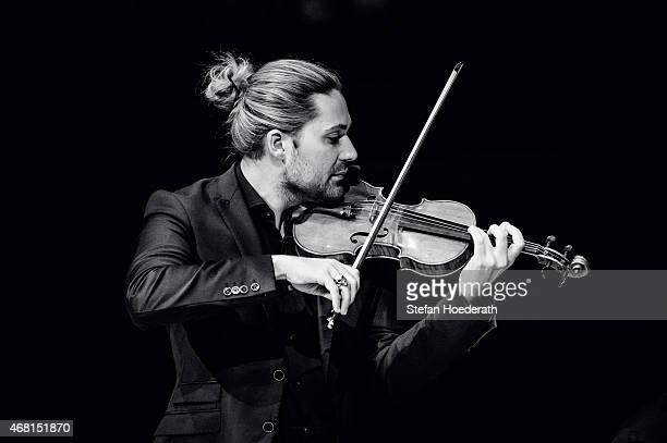 Violinist David Garrett performs live on stage during a concert at Philharmonie on March 30 2015 in Berlin Germany