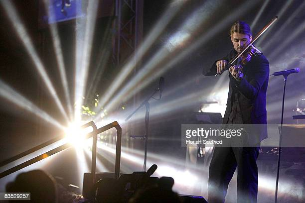Violinist David Garrett preforming during the Unesco Benefit Gala For Children 2008 at Hotel Maritim on November 01 2008 in Cologne Germany