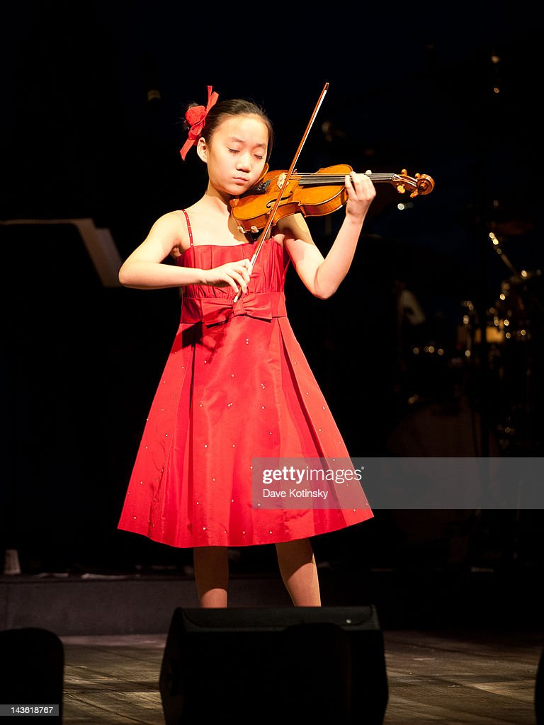 Violinist Elli Choi performs at The Juilliard School presents Hail Mary! Gala Tribute to Mary Rodgers Guettel at Peter Jay Sharp Theater on April 30, 2012 in New York City.