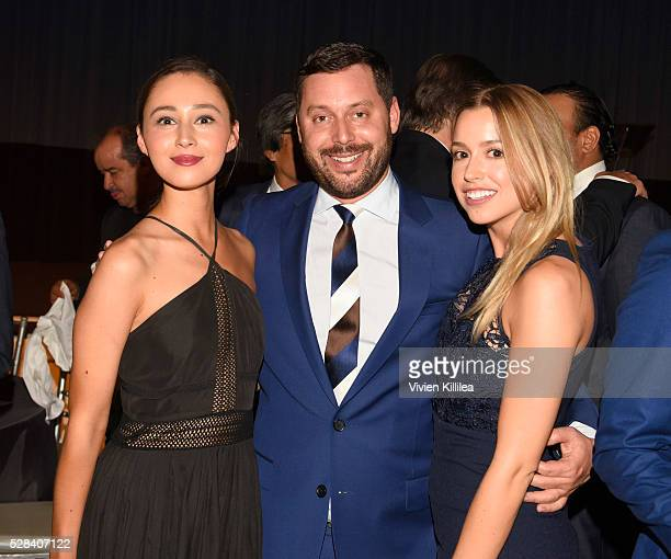Violinist Gabi Holzwarth agent Michael Kives and Lydia Gray attend the Berggruen Institute 5 Year Anniversary Celebration at The Beverly Wilshire on...