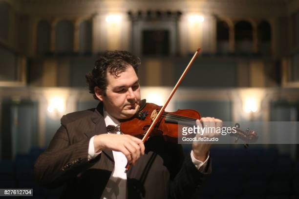 Violinist in concert