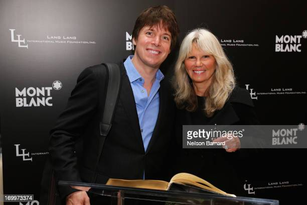 Violinist Joshua Bell and Montblanc Director PR International and Cultural Affairs Ingrid RoosenTrinks attend The Lang Lang International Music...