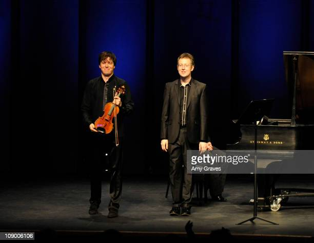Violinist Joshua Bell and pianist Sam Haywood perform at The Broad Stage on February 10 2011 in Santa Monica California