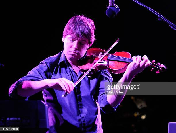 Violinist Joshua Bell performs during the fifth anniversary celebration of 'The Beatles LOVE by Cirque du Soleil' show after party at The Mirage...
