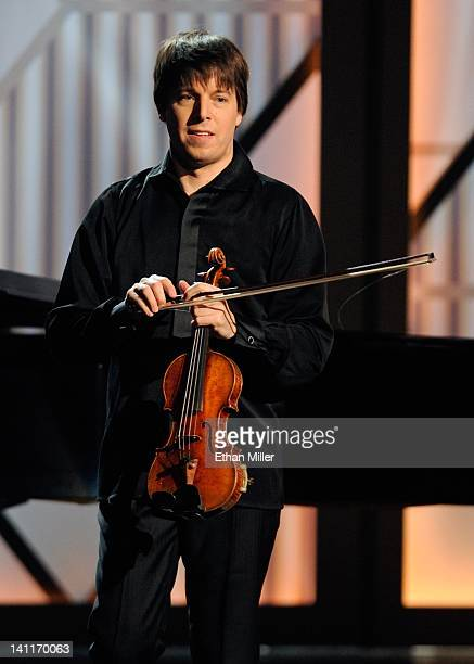 Violinist Joshua Bell performs during the opening night of The Smith Center for the Performing Arts on March 10 2012 in Las Vegas Nevada