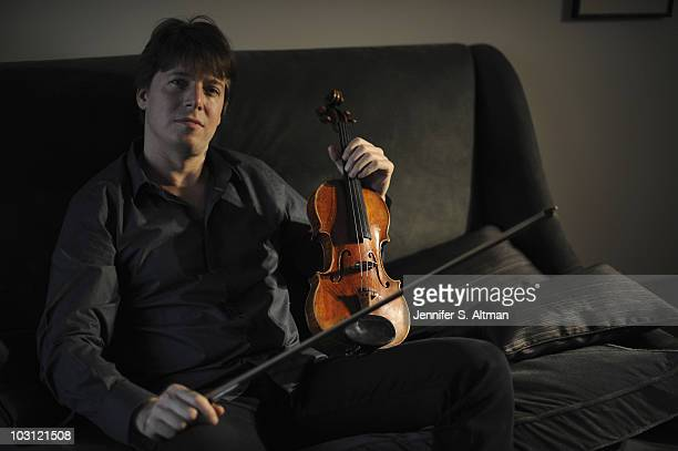 Violinist Joshua Bell poses at a portrait session for The Los Angeles Times in New York NY on July 10 2010