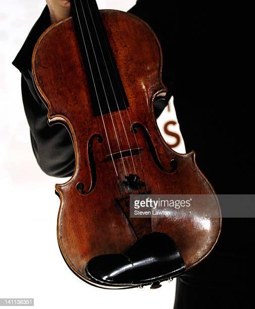 Violinist Joshua Bell's 1713 ex Huberman Stradivarius violin on March 10 2012 in Las Vegas Nevada