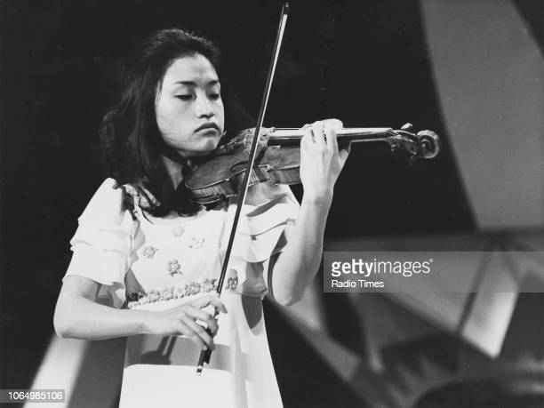 Violinist Kyung Wha Chung performing on the television show 'The Nana Mouskouri Show' February 16th 1976