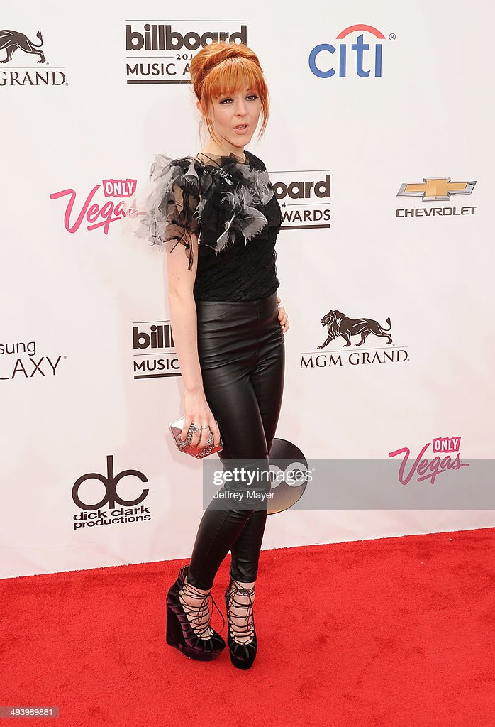 Violinist Lindsey Stirling arrives at the 2014 Billboard Music Awards at the MGM Grand Garden Arena on May 18, 2014 in Las Vegas, Nevada.