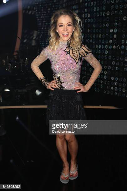 Violinist Lindsey Stirling attends 'Dancing with the Stars' season 25 at CBS Televison City on September 18 2017 in Los Angeles California