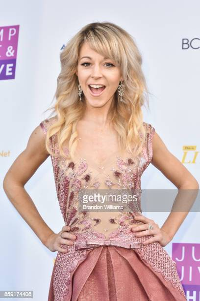 Violinist Lindsey Stirling attends Jump Jive and Thrive at Pauley Pavilion on October 8 2017 in Los Angeles California