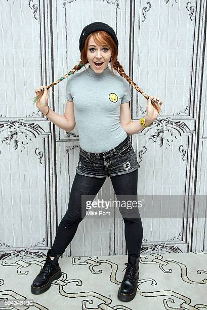 Violinist Lindsey Stirling attends the AOL Build Speaker Series to discuss her upcoming album 'Brave Enough' at AOL HQ on August 22 2016 in New York...