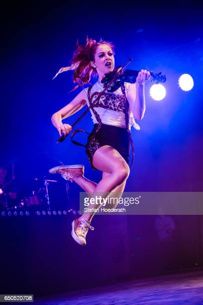 Violinist Lindsey Stirling performs live on stage during a concert at MaxSchmeling Hall on March 9 2017 in Berlin Germany