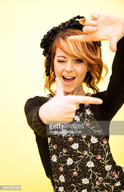 Violinist Lindsey Stirling poses for a portrait during the 2015 Teen Choice Awards FOX Portrait Studio at Galen Center on August 16 2015 in Los...