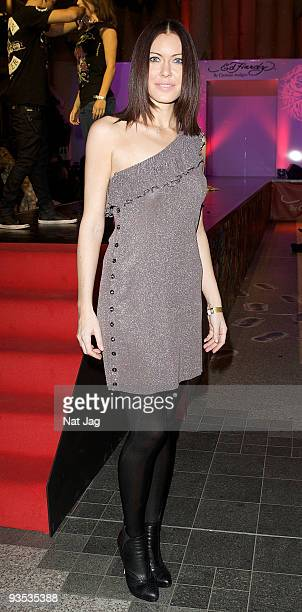 Violinist Linzi Stoppard attends the opening of the new Ed Hardy store at Westfield on December 1 2009 in London England