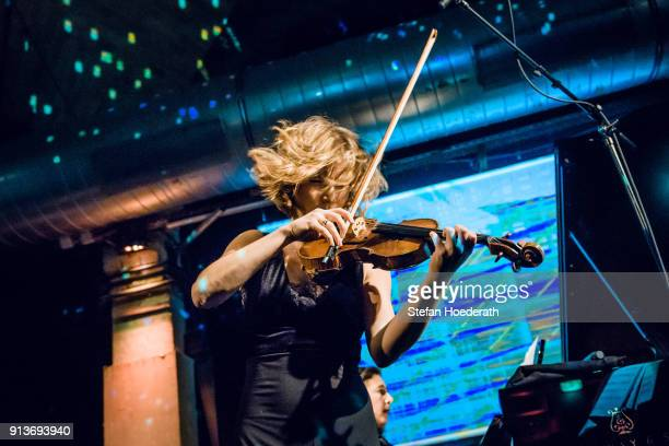 Violinist Lisa Batiashvili performs live on stage during Yellow Lounge organized by recording label Deutsche Grammophon at Gretchen on January 23...