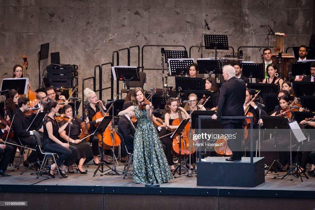 Violinist Lisa Batiashvili performs live with Daniel