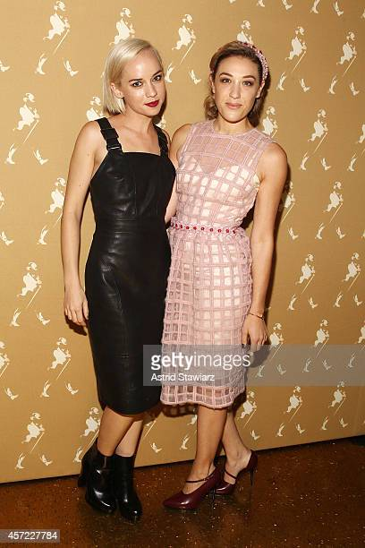 Violinist Margot and DJ Mia Moretti of The Dolls attend Johnnie Walker's toast of the launch of Gold Label Reserve The Celebration Blend on October...