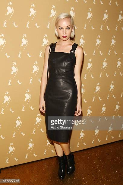 Violinist Margot of The Dolls attends Johnnie Walker's toast of the launch of Gold Label Reserve The Celebration Blend on October 14 2014 in New York...