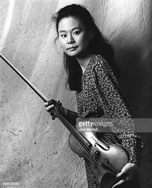 Violinist Goto Midori in 1995
