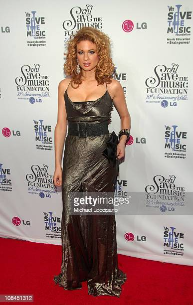 Violinist Miri BenAri arrives at VH1's Save The Music 10th Anniversary Gala at The Tent at Lincoln Center on September 20 2007 in New York City
