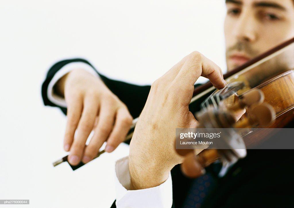 Violinist : Stockfoto
