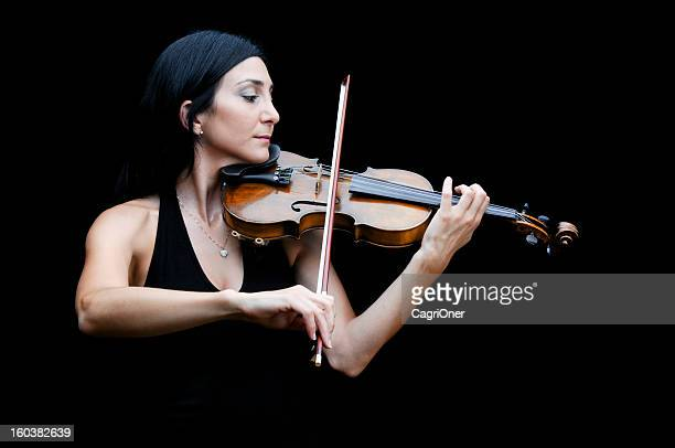 Violinist Playing Her Violin