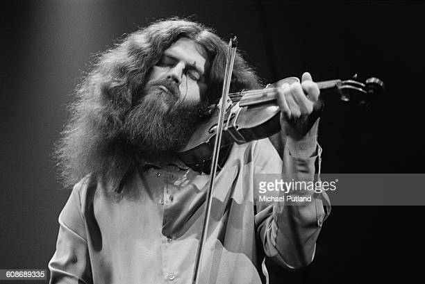Violinist Robby Steinhardt performing with American rock group Kansas 1977