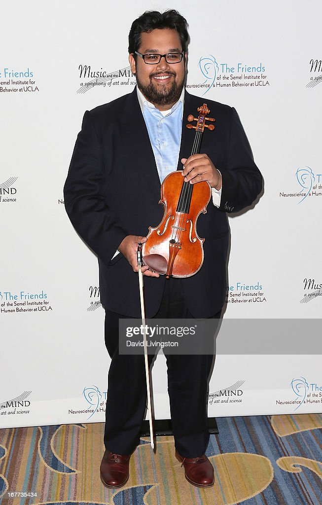 Violinist Robert Gupta attends the Friends of the Semel Institute for Neuroscience & Human Behavior at UCLA's Inaugural Music and the Mind gala at the Regent Beverly Wilshire Hotel on April 28, 2013 in Beverly Hills, California.