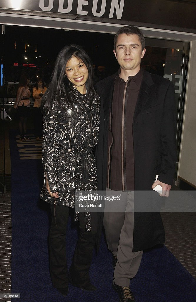 Violinist Vanessa Mae arrives with her boyfriend at the UK Premiere of 'The Lord Of The Rings: The Two Towers' held on December 11, 2002 at the Odeon Leicester Square, in London.